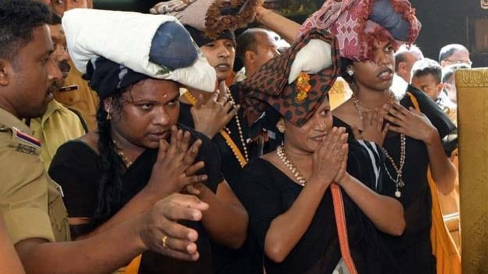 Four transgenders draped in sarees, who were earlier denied permission to visit the Sabarimala temple on Sunday, completed their darshan of the Lord Ayyappa shrine on Tuesday after securing permission a day ago.