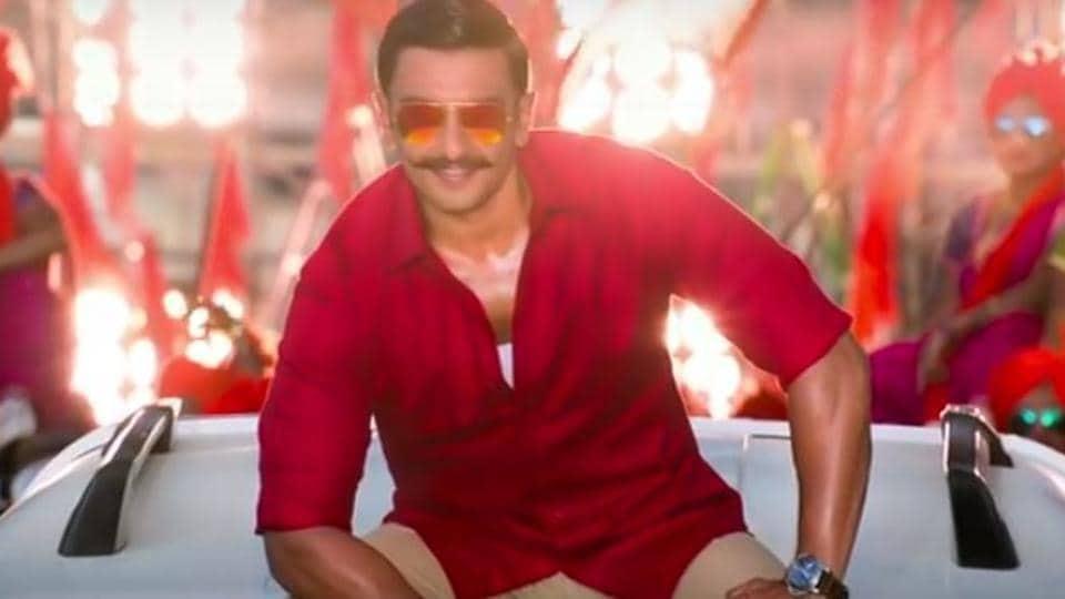 Simmba title song Aala Re Aala has Ranveer Singh in his elements.