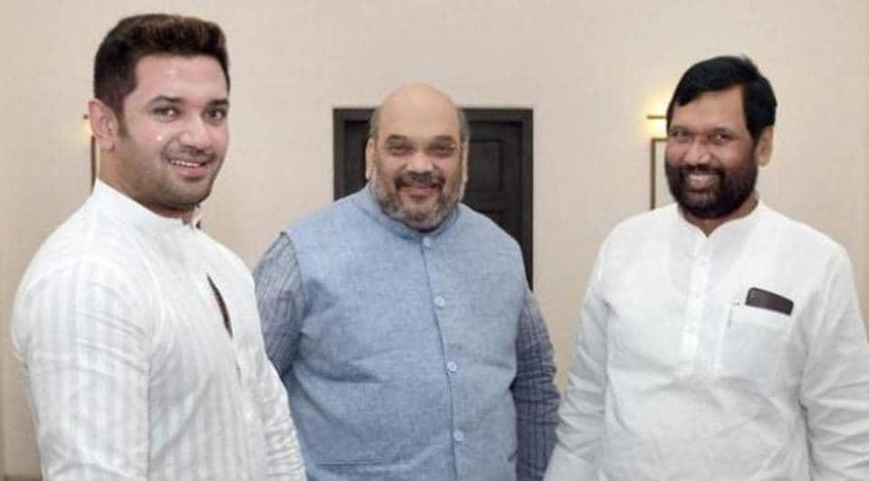 Amit Shah Meets Ljp Chief Ram Vilas Paswan Son To Talk 2019 Seat Share India News Hindustan Times