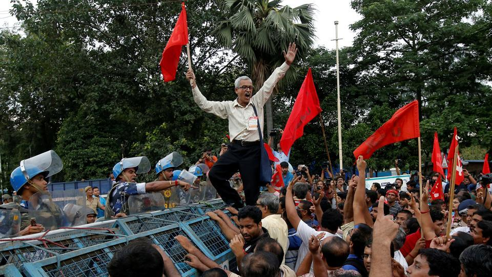All central trade unions, except the RSS-affiliated Bharatiya Mazdoor Sangh, have called a national strike on January 8 and 9 to protest against unemployment and other issues.