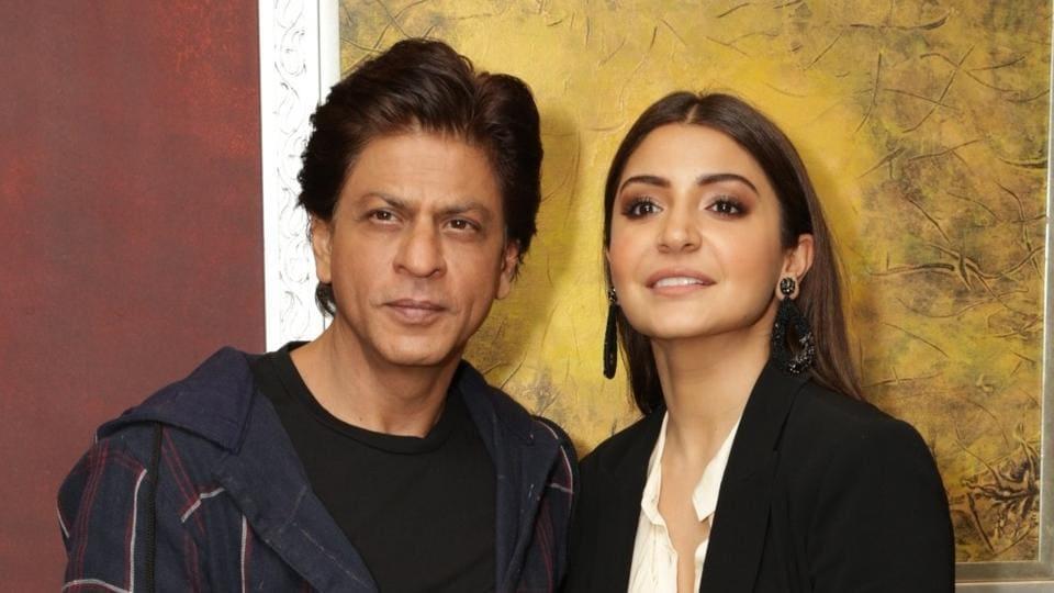 Actors Shah Rukh Khan and Anushka Sharma during promotion of film Zero in Gurugram.