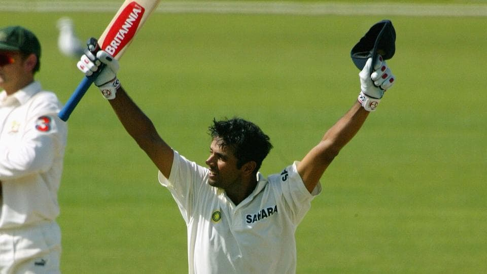 File Image - Rahul Dravid celebrates after hitting the winning run to give India a four wicket victory in the second Test between Australia and India at the Adelaide Oval on December 16, 2003.