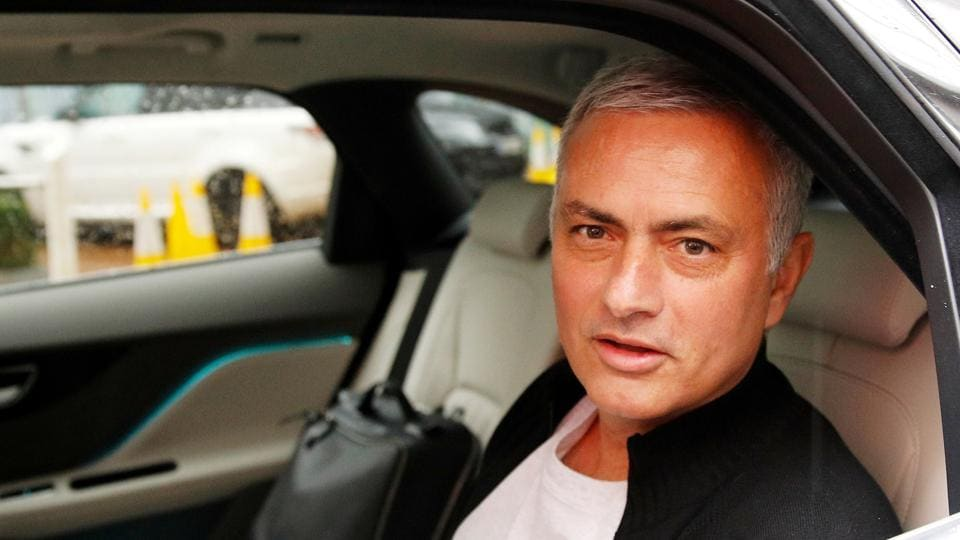 Jose Mourinho is driven away from his accommodation after leaving his job as Manchester United's manager, in Manchester, England. (Phil Noble / REUTERS)