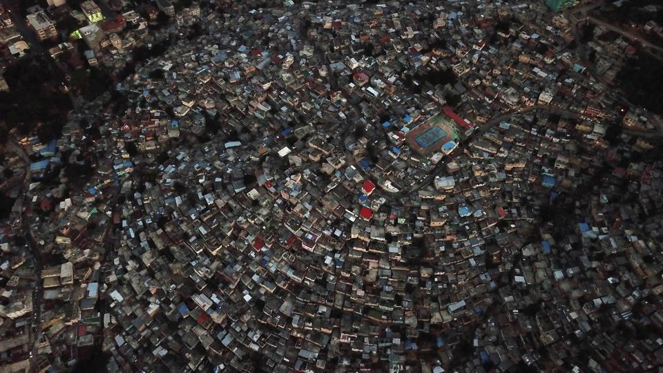 Aerial view of the high density of houses in the neighbourhood of Jalousie, in the commune of Petion Ville, Port-au-Prince, Haiti. (Hector Retamal / AFP)