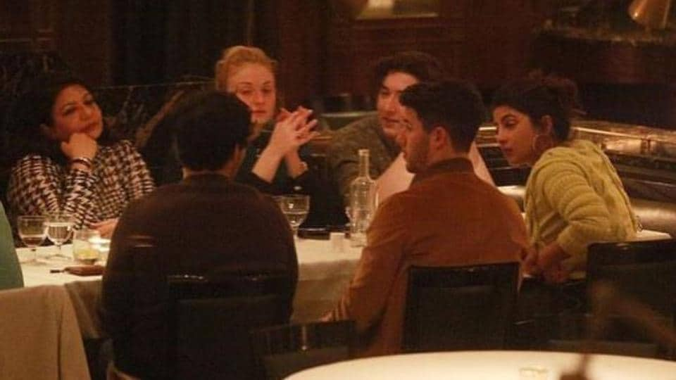 Priyanka and Nick were spotted dining with their families in London.