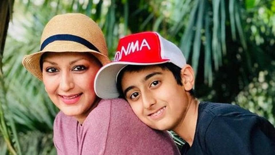 Sonali Bendre's son Ranveer has suggested a new book for her book club this month.