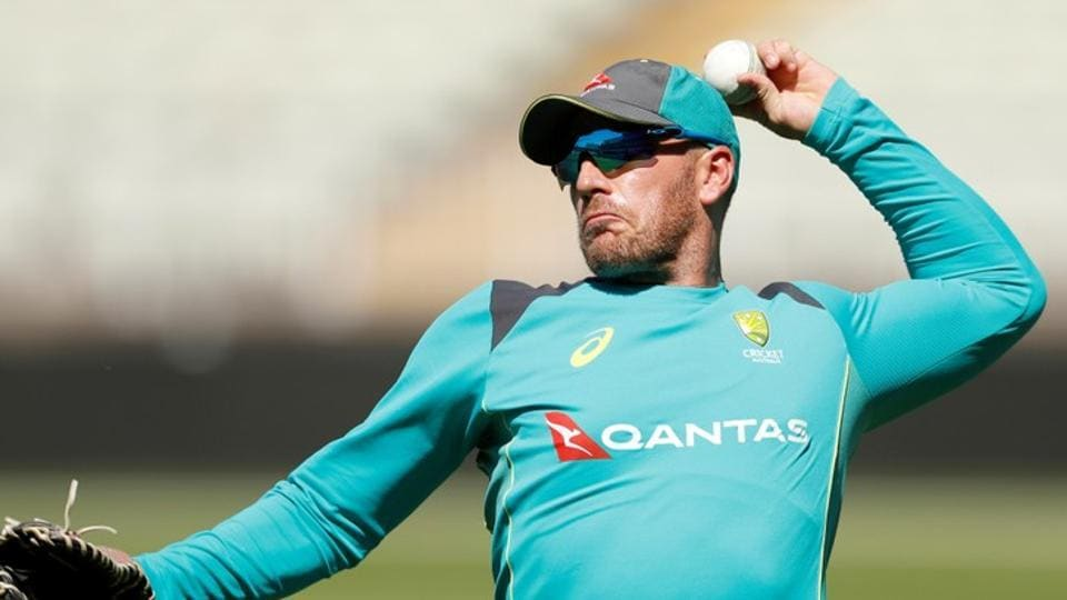 File image of Australia cricketer Aaron Finch in action during a training session.