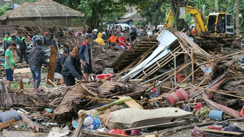 "Image result for INDONESIA Tsunami Kills 222, ""Dec 23, 2018"""