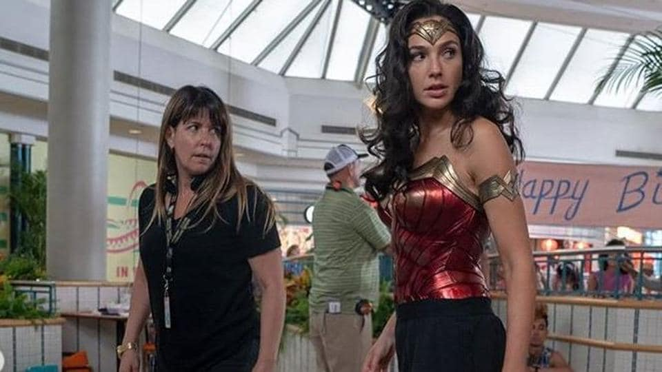 Actor Gal Gadot shared new pictures from the sets of her upcoming film Wonder Woman 1984.