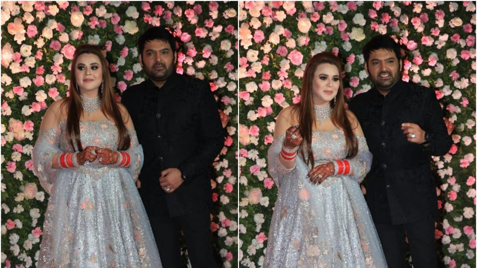 Kapil Sharma Ginni Chatraths Mumbai Wedding Reception Looks