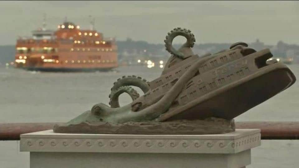 It all started in 2016 with a bronze statue commemorating the tragic day in November 1963 when a giant octopus upended the Staten Island ferry, killing nearly 400 people in New York.