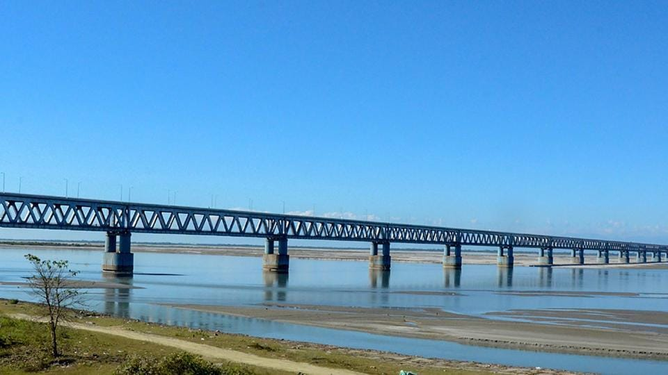 Prime Minister Narendra Modi today inaugurated the Bogibeel bridge, India's longest rail and road bridge, connecting Assam's Dibrugarh on the south bank to Dehamji in the north, bordering Arunachal Pradesh. The bridge over the Brahmaputra will boost defence logistics along the China border and reduce travel time for rail passengers and road users. (PTI File)