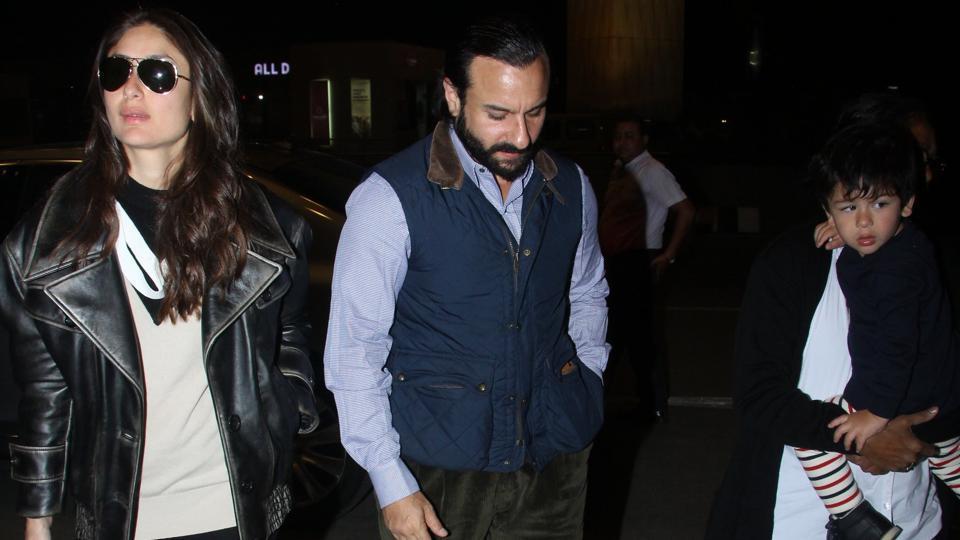 Kareena Kapoor, Saif Ali Khan and son Taimur Ali Khan are off to London.