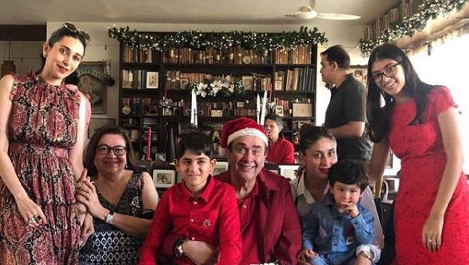Karisma Kapoor shared this photo from the Kapoor family Christmas lunch.