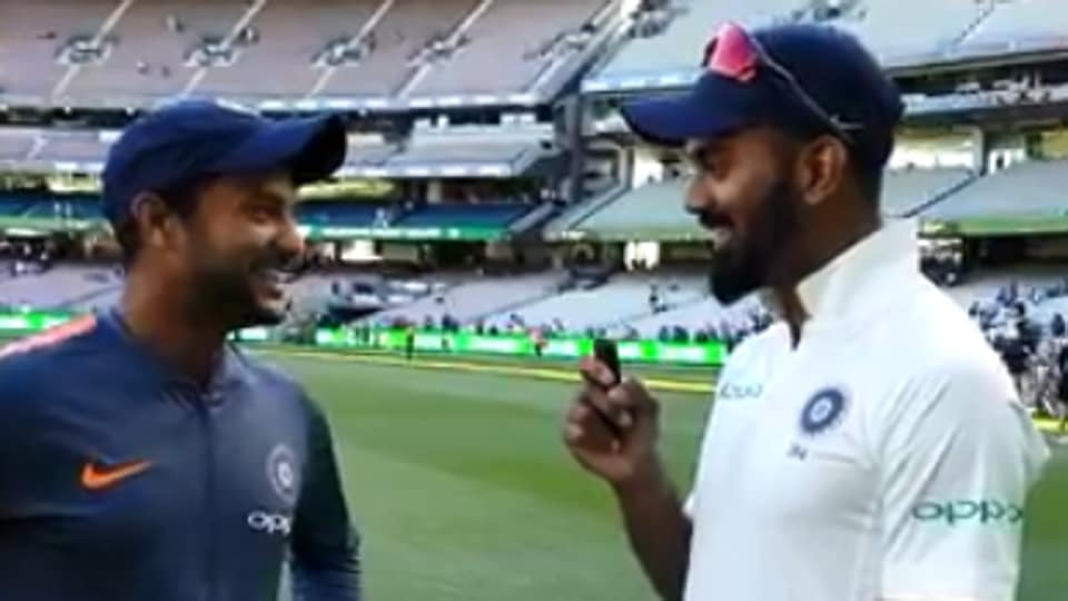 Mayank Agarwal opens up about his first day of Test cricket with KL Rahul.