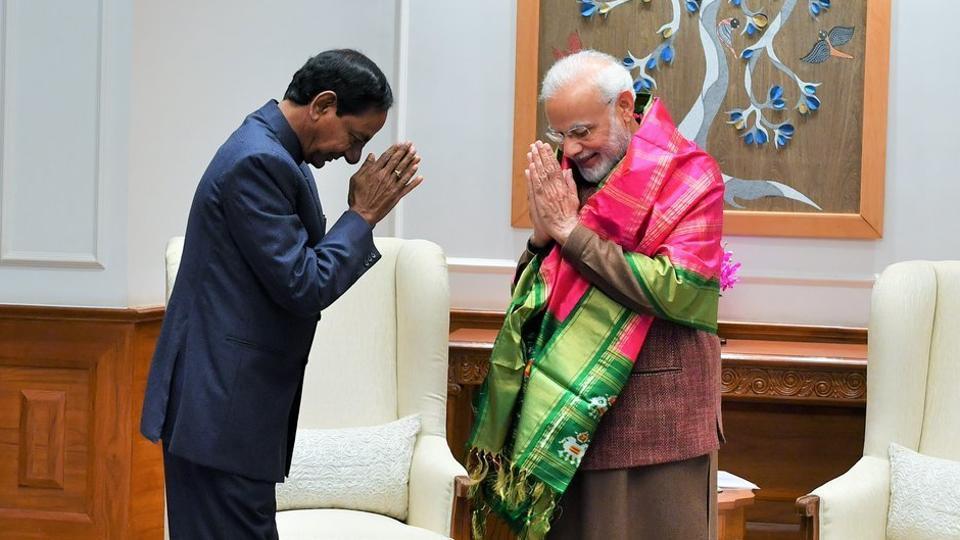 Telangana CM KChandrashekar Rao,PM Narendra Modi,KCR