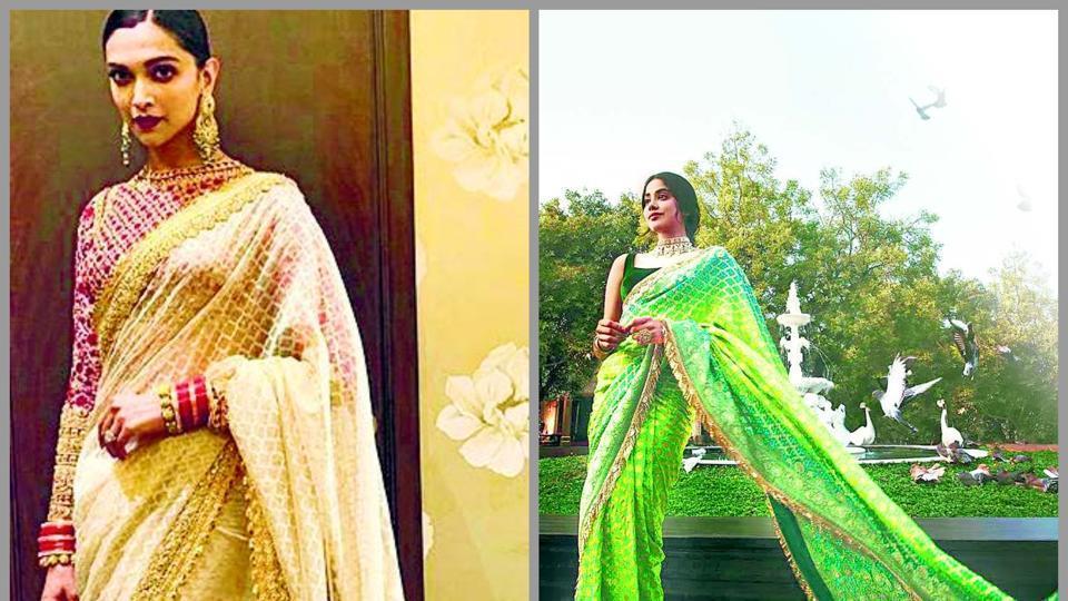Actors Deepika Padukone, Kajol, Janhvi Kapoor and Anushka Sharma have made appearances wearing sarees with floor-sweeping pallus.