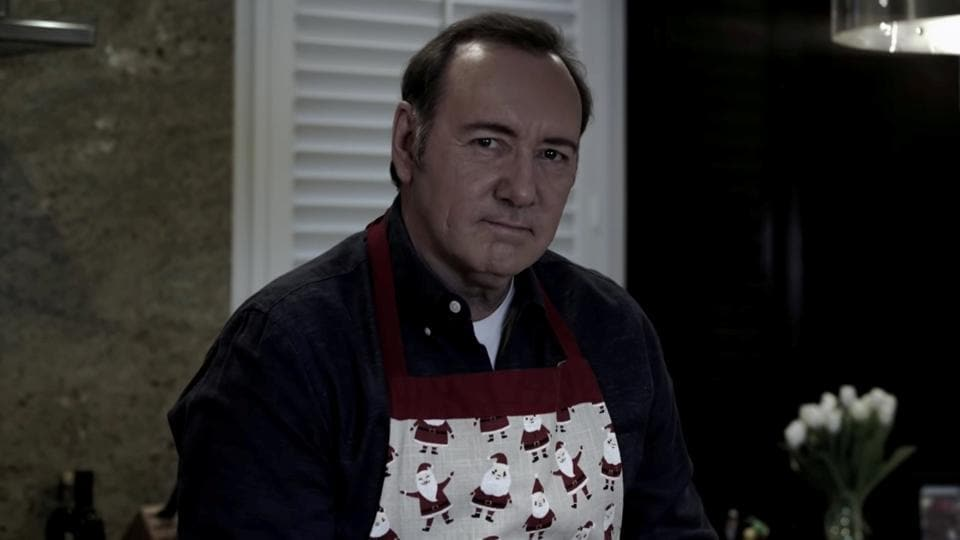 Kevin Spacey's freakish  video viewed 4.5million times in 24 hours