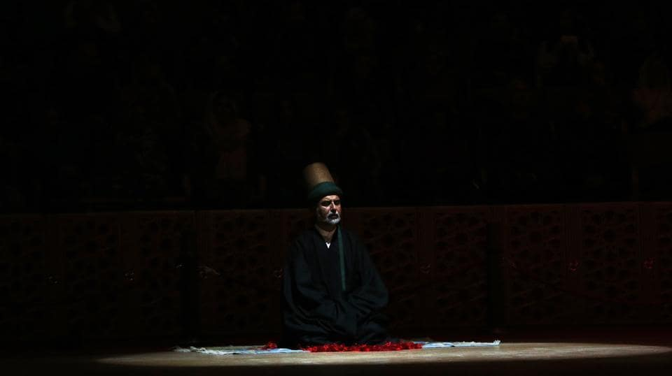 a68c3183110 A sheikh of the Mevlevi order of whirling dervishes offers his prayers  during the ceremony.