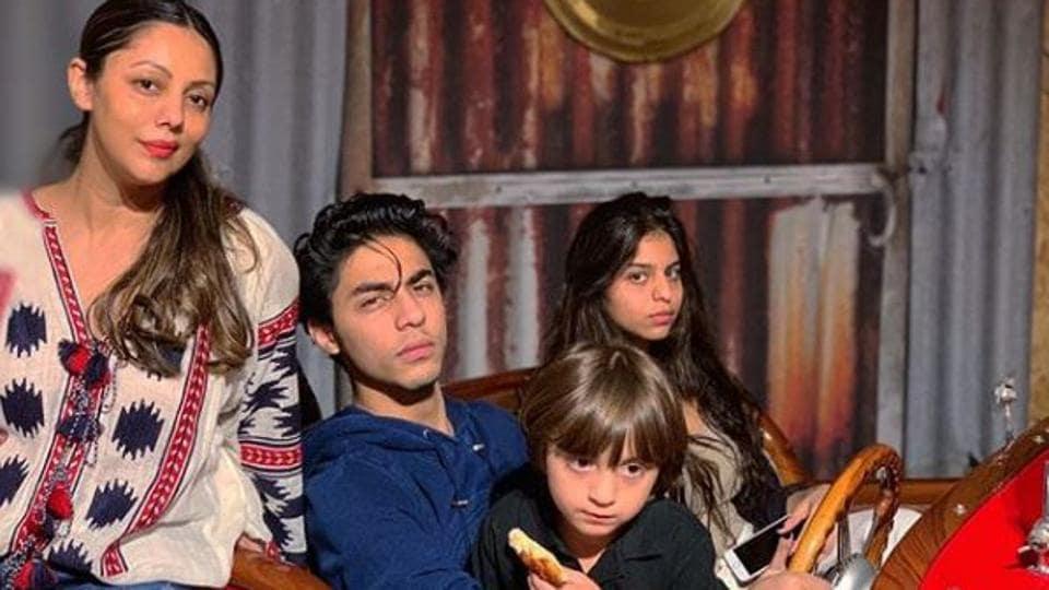 Gauri Khan,Aryan Khan,Shah Rukh Khan