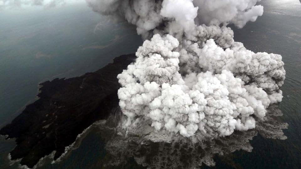 Indonesia hikes danger level for erupting Anak Krakatau volcano, reroutes all flights