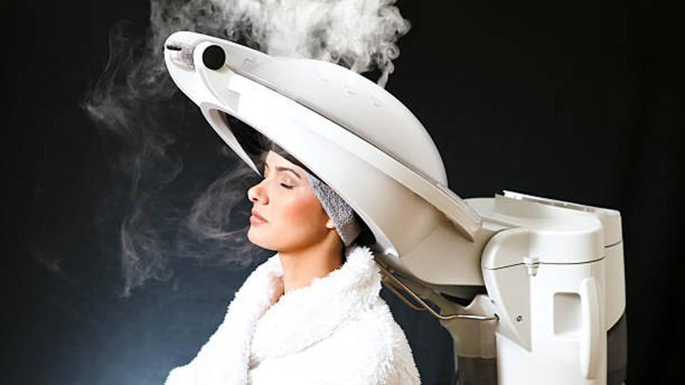 hair spa,Hair spa steamer,beauty mishap