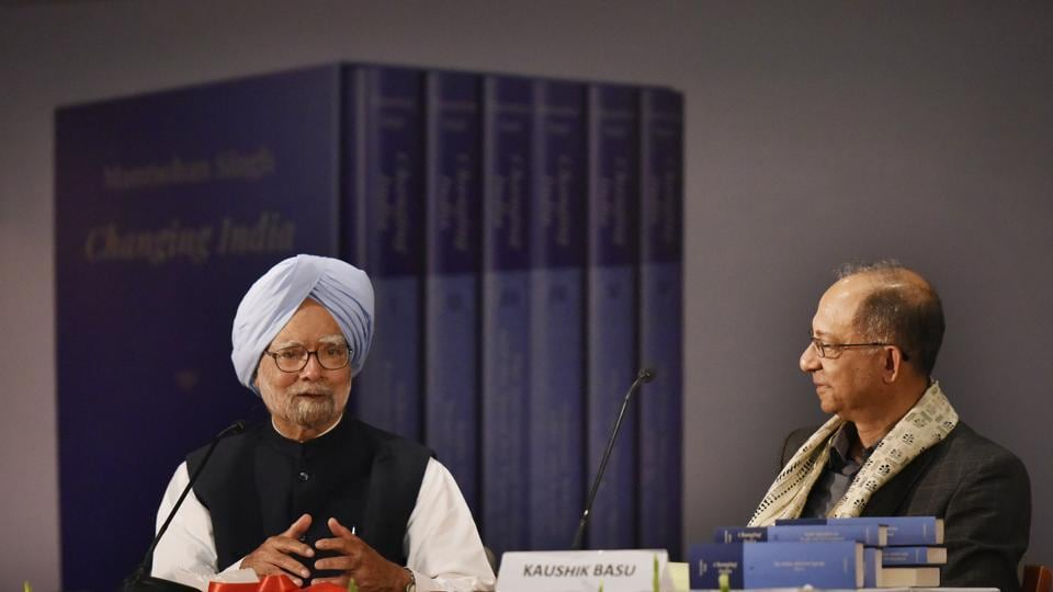 Former Prime Minister Manmohan Singh during the launch of his book, December 18