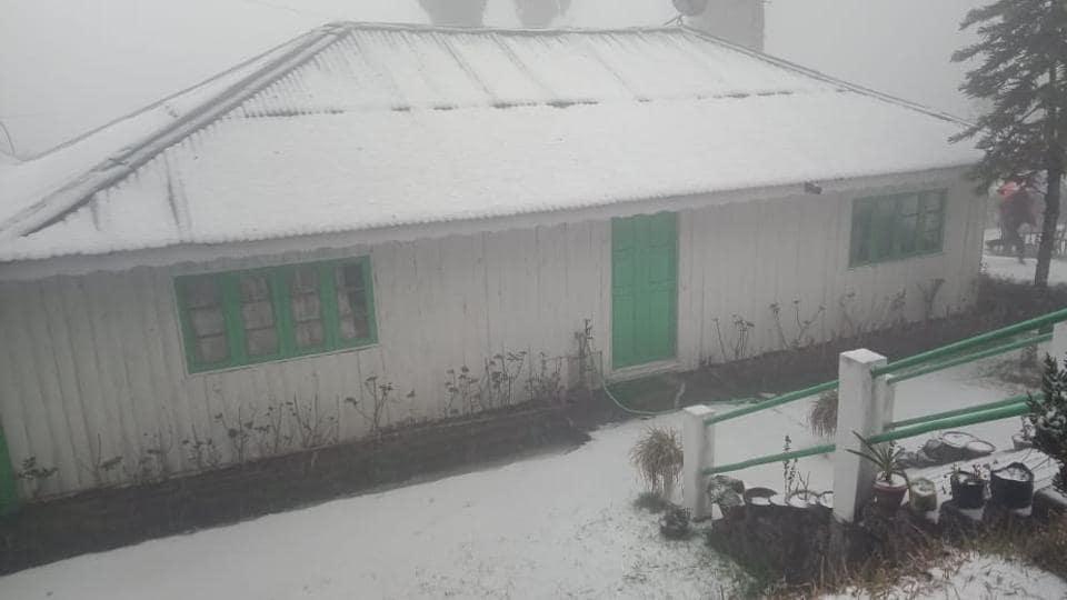 Darjeeling,Gangtok,Snowfall in Darjeeling