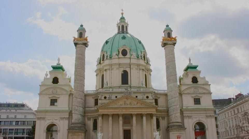 Five monks were assaulted at a Vienna church on Thursday by two people, at least one of whom apparently demanded money and valuables, police said.
