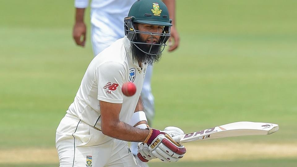 South Africa's Hashim Amla plays a shot during day three of the 1st Test match between South Africa and Pakistan.