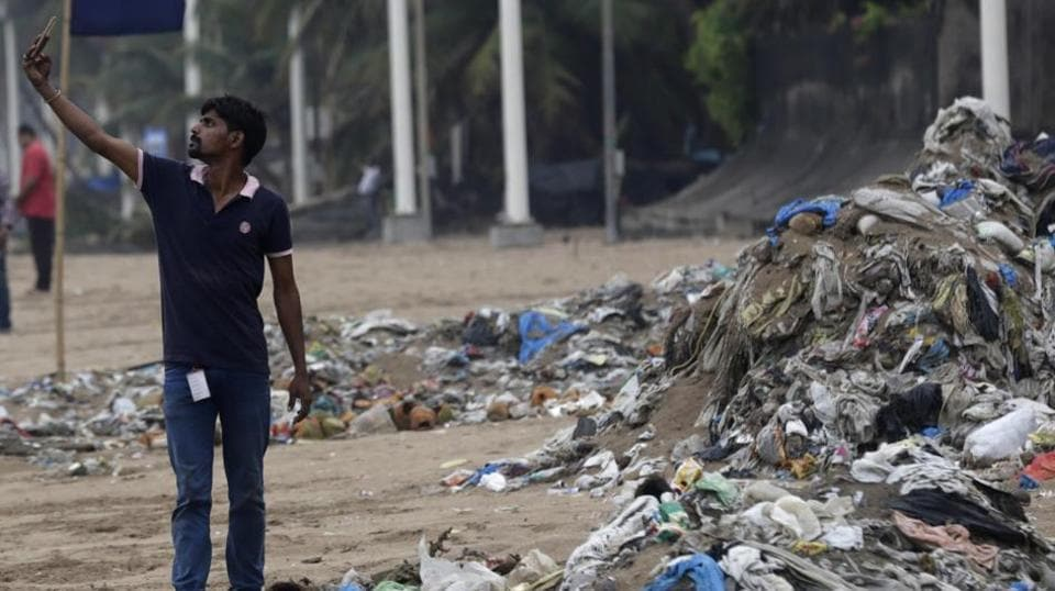 Fishing areas off the coast of Mumbai have the highest concentration of plastic waste in the country.