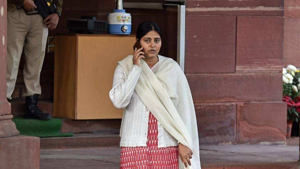 Union Minister of State and Apna Dal leader Anupriya Patel during the Winter Session of Parliament, in New Delhi