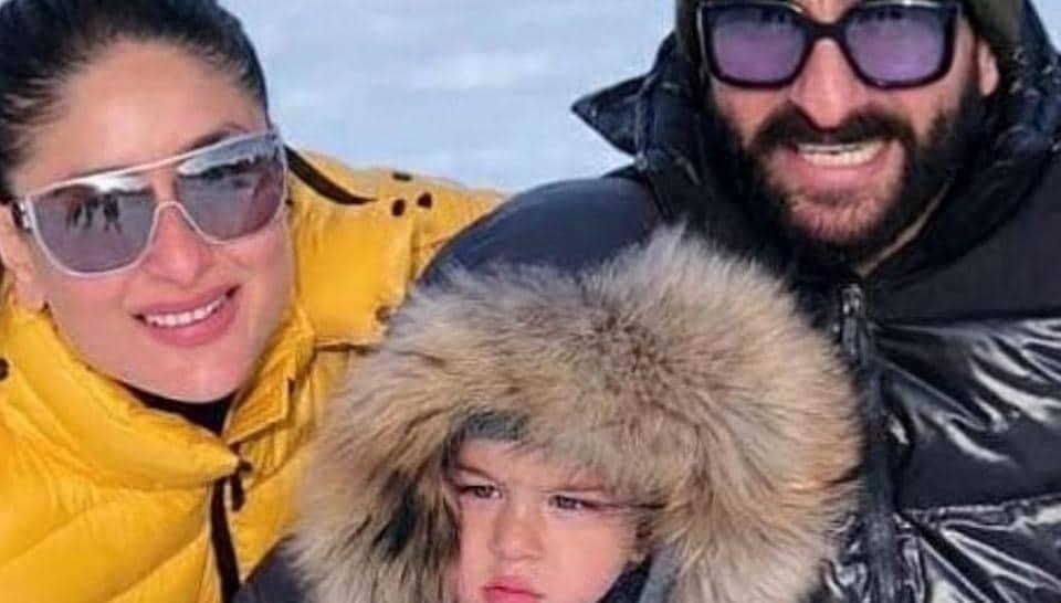 Kareena, Taimur and Saif are holidaying in Switzerland.