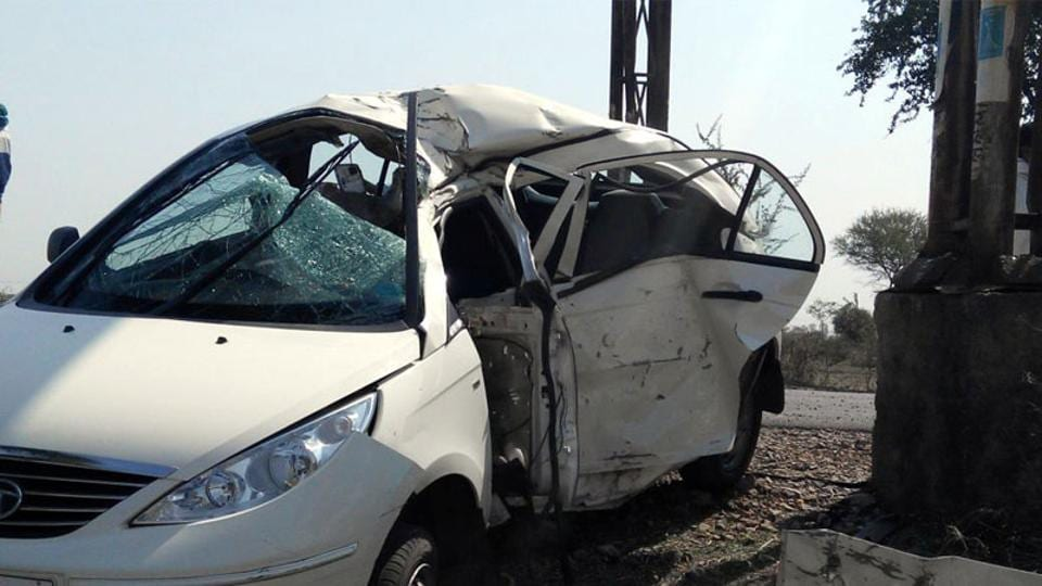 Four engineering students were killed and four others injured when their car hit a dumper inAndhra Pradesh's Guntur town (Representative Photo)