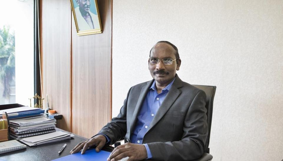 K. Sivan, chairman of the Indian Space Research Organisation (ISRO), in Bengaluru, India. ISRO believes the human spaceflight will be a game-changer for the Indian space programme.