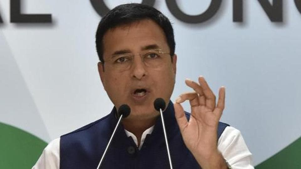 Congress party national spokesperson Randeep Singh Surjewala.