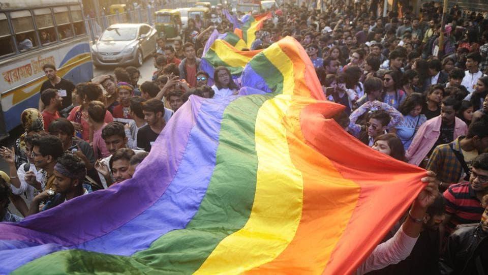 LGBTQ community members demand changes in the transgender persons bill in Kolkata, 2018