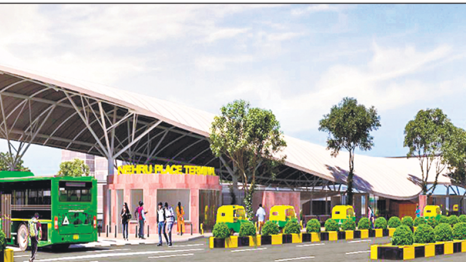 An artist's impression of revamped Nehru Place bus terminal.