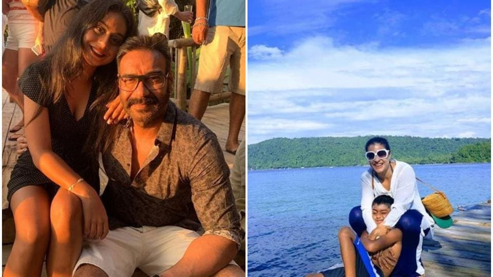 AjayDevgn and Kajol have been sharing pictures from their vacation in Thailand.