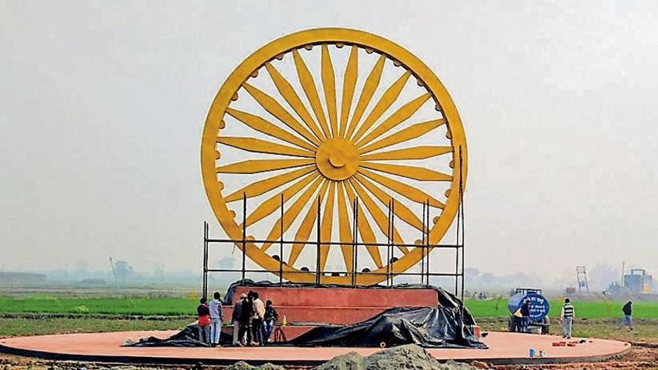ashok-chakra-s-tallest-replica-to-be-unveiled-on-january-5-in-haryana/