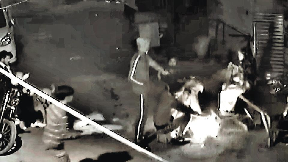 CCTV footage of the incident in New Delhi's Uttam Nagar where a woman was shot at  by a man.  The police are probing a personal enmity angle.