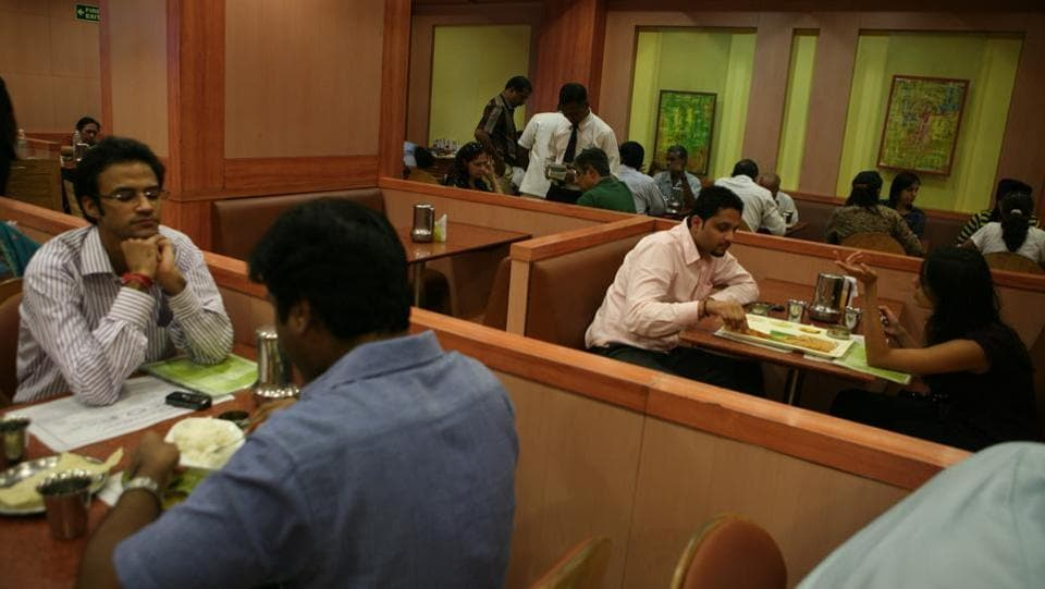 The Income Tax Department conducted searches at over two dozen premises of popular hotel and restaurant chains in Tamil Nadu on charges of alleged tax evasion. The raids are being carried out at 32 locations and the residences and offices of the directors of companies like Saravana Bhavan, Hot Bread, Anjappal and Grand Sweets by a team of over 100 IT sleuths. (Manoj Verma / HT Archive)