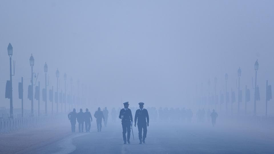 A view of Rajpath in New Delhi, during morning hours on Wednesday, January 2, 2019.