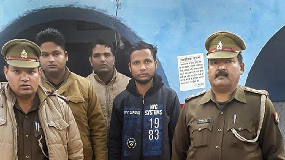 The Uttar Pradesh Police arrested Yogesh Raj, a Bajrang Dal activist, for the murder of inspector Subodh Kumar Singh in Bulandshahr on December 3, 2018. Raj was arrested from the Khurja area in Bulandshahr, Uttar Pradesh. He had been on the run ever since violence erupted in Bulandshahr over alleged cow slaughter. (PTI)