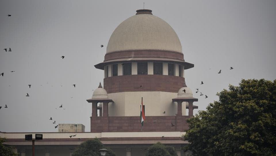 A new bench will be set up to hear the Babri Masjid-Ram Janmabhoomi title suit before January 10, the Supreme Court said today, putting off decisions on requests to fast track the case. The court was hearing petitions against the Allahabad high court judgment of 2010 that had ordered partition of the 2.77 acre of the disputed land among three parties -- deity Ram Lalla, Nirmohi Akhara and Sunni Waqf Board. (Biplov Bhuyan / HT Photo)