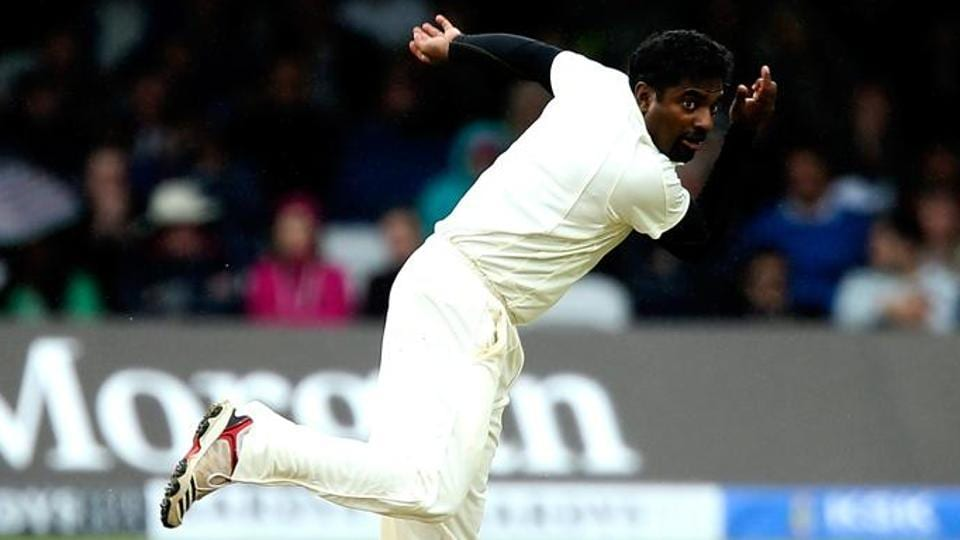 File image of Sri Lanka cricketer Muttiah Muralitharan in action during a Test.