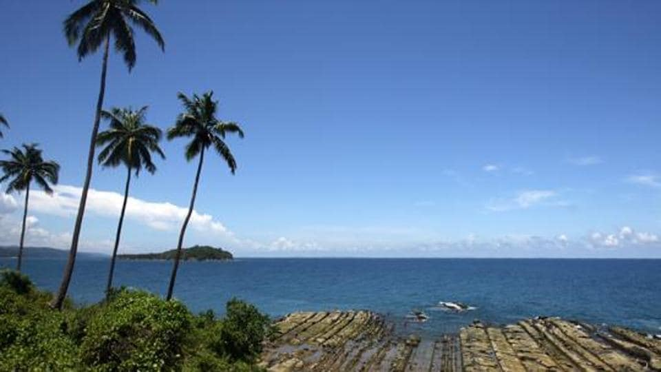 In this file photo taken on September 8, 2007 shows the coast line of South Andaman Island near Port Blair, capital of the Andaman and Nicobar Islands.