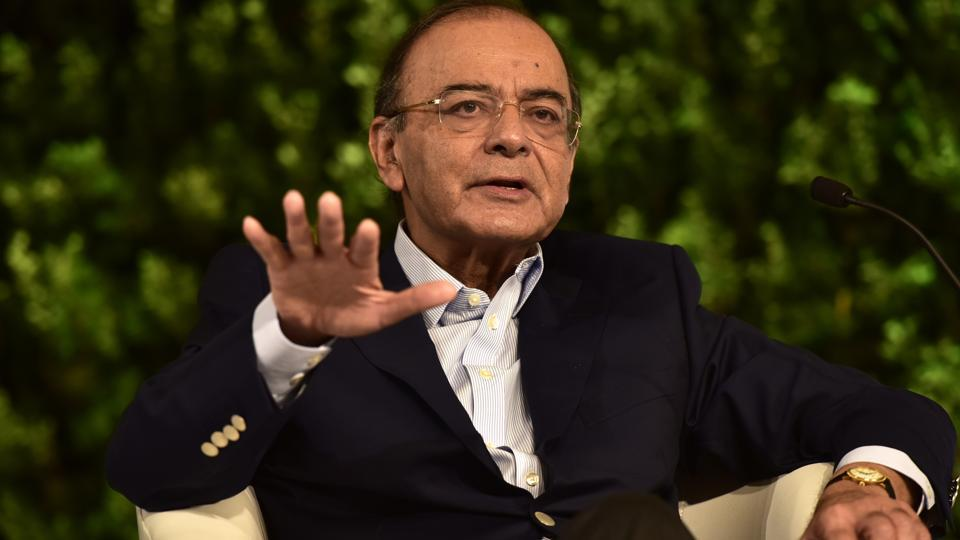 Arun Jaitley, Minister of Finance and Corporate Affairs during the Hindustan Times Leadership Summit at Taj Palace in New Delhi, India, on Saturday, October 6, 2018. (Photo by Virendra Singh Gosain/ Hindustan Times)