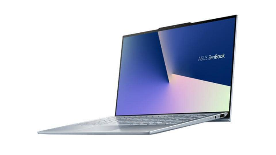 Asus ZenBookS13 makes room for more display with a notch on top.