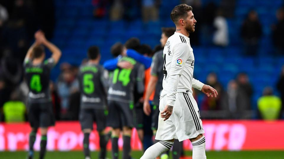 Real Madrid slip 10 points behind Barcelona after shock defeat by Real Sociedad | football